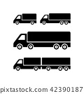 Truck vector icon on white background 42390187