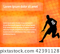 basketball player  on the abstract background 42391128