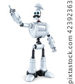 Robot Chef pointing over white background 42392363