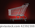 3d, shopping, cart 42392366