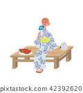 Yu-yui Yukata female illustration 42392620