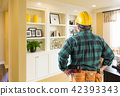 Contractor Facing Custom Built-in Shelves and Cabinets Wall 42393343
