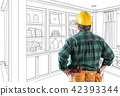 Contractor Facing Custom Built-in Shelves and Cabinets Wall Desi 42393344