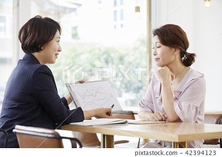 女商人,諮詢,韓國 42394123