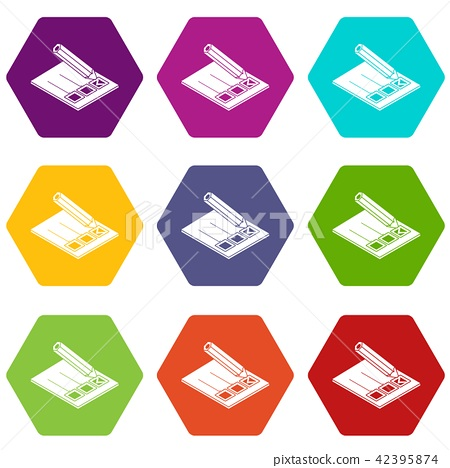 Election paper icons set 9 vector 42395874