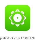 Tambourine icon digital green 42396378