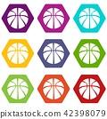 Basketball icons set 9 vector 42398079