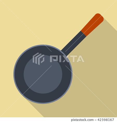 Pan icon, flat style 42398167
