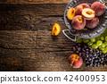 องุ่น,ลูกพีช,ผลไม้ 42400953