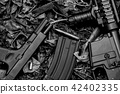 Guns, Weapons and military equipment for army. 42402335