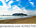에노시마 片瀬海岸에서의 전망 42402749
