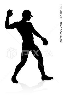 Baseball Player Silhouette  42405022