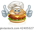 Chef Burger Food Cartoon Character Mascot 42405027