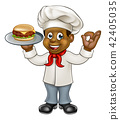 Chef Holding Burger 42405035