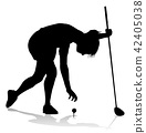 Golfer Golf Sports Person Silhouette 42405038