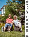 senior, garden, couple 42405145
