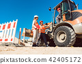 woman, construction, worker 42405172