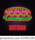 hot, neon, dog 42405286