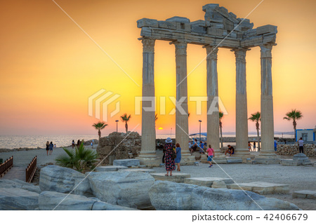 The Temple of Apollo in Side at sunset, Turkey 42406679