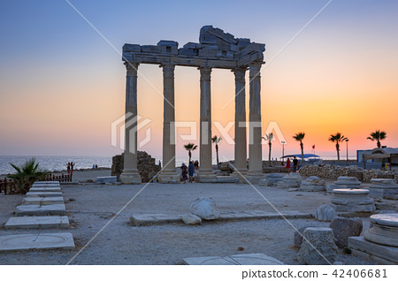 The Temple of Apollo in Side at sunset, Turkey 42406681