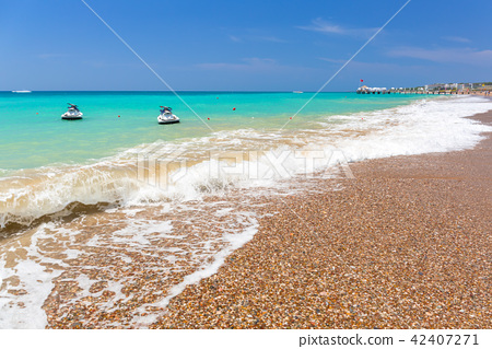 Lagoon of the beach on Turkish Riviera near Side 42407271