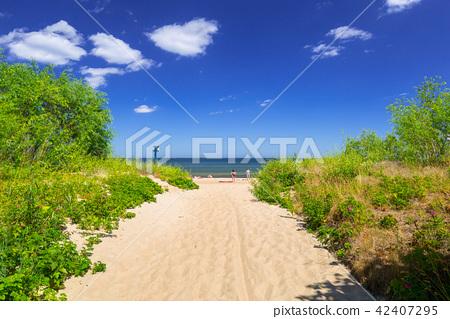Beach of Baltic Sea in Sopot at summer, Poland 42407295