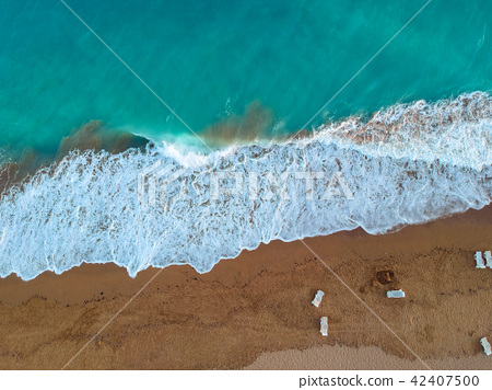 Aerial view of Turkish Riviera near Side. 42407500
