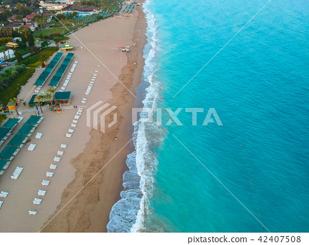 Aerial view of Turkish Riviera near Side. 42407508