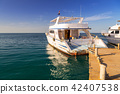Luxury yacht at the pier of Red Sea in Egypt 42407538