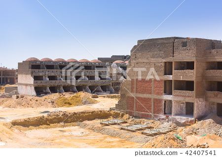 Building construction at the Red Sea in Egypt 42407541