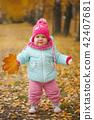 autumn, girl, fall 42407681