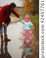 puddle, mother, child 42407761