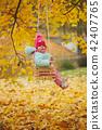 swing, autumn, fall 42407765