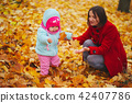 autumn, leaves, mother 42407786