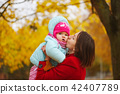 family, autumn, mother 42407789