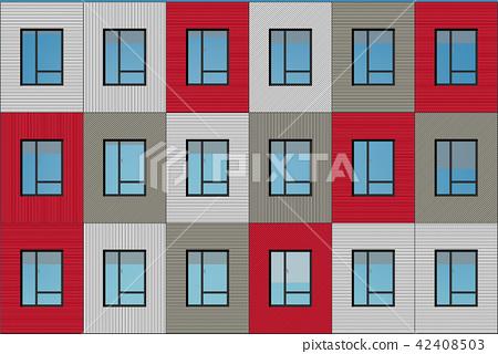 building facade illustration -  apartment house ve 42408503