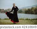 Beautiful Teenager girl dancing flamenco 42410649