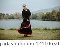 Beautiful Teenager girl dancing flamenco 42410650