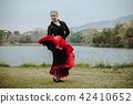 Beautiful Teenager girl dancing flamenco 42410652