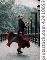 Beautiful Teenager girl dancing flamenco  42410653