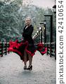 Beautiful Teenager girl dancing flamenco 42410654