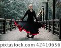 Beautiful Teenager girl dancing flamenco 42410656