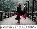 Beautiful Teenager girl dancing flamenco  42410657