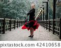 Beautiful Teenager girl dancing flamenco  42410658