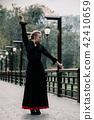 Beautiful Teenager girl dancing flamenco 42410659