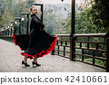 Beautiful Teenager girl dancing flamenco 42410661