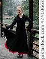 Beautiful Teenager girl dancing flamenco 42410663