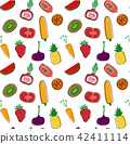 fruit, vegetable, pattern 42411114