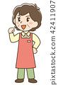 围裙女孩构成 42411907