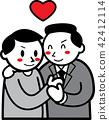 homosexual couple, couple, male 42412114